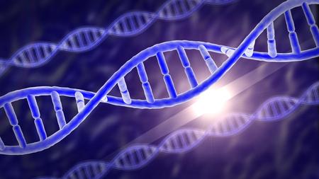 Ilustración médica de los genes humanos o ADN