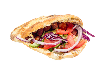 donner: Donner style kebab isolated on white.