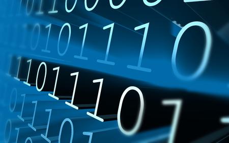 Binary code in blue rays