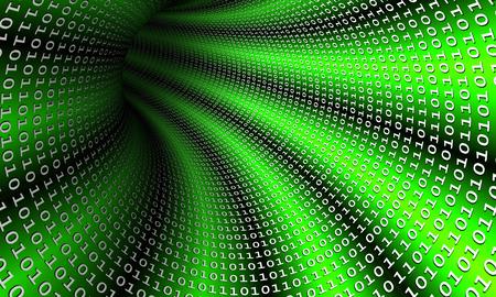 Binary stream, 3D concept image