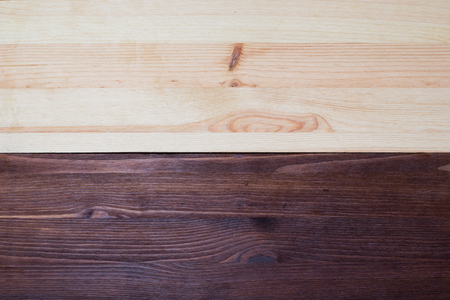 Pine and walnut double Wood Texture close up Stock Photo