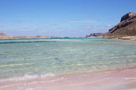 Panoramic view of Balos beach, Greece, Crete