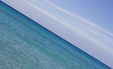 Blue sky and sea. Diagonal composition. Crete, Greece
