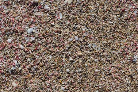 Unique Pink Sand of Falasarna Beach, Crete island, Greece Stock Photo