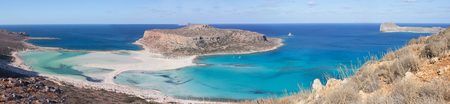 Panoramic view of Balos beach, Greece, Crete