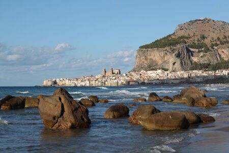 Landscape on the beach to the sea, Palermo Sicily Stock Photo - 8023248