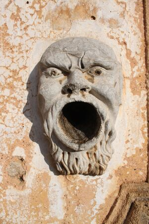 monster face sculpture statues, works of art with the Sicilian style photo