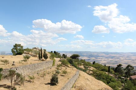 natural landscape in warm earth, Sicily Italy