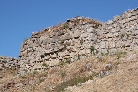 wall,natural landscape in warm earth, Sicily Italy photo