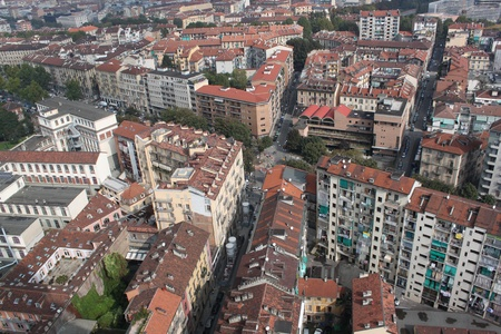 Urban landscape of the city,turin italy photo