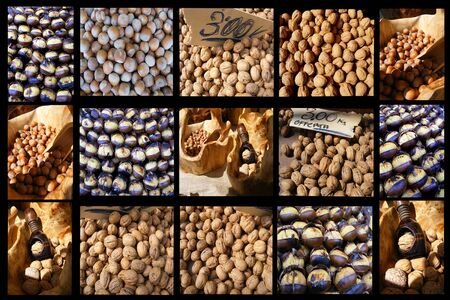 photo collage of dried fruit photo