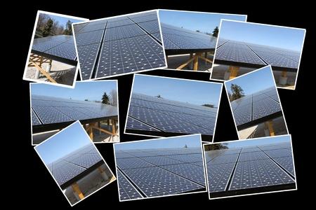 Solar panels under the sky, italy
