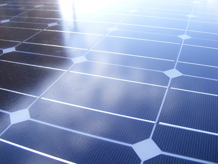 Photovoltaic panels to produce electricity from the sun photo