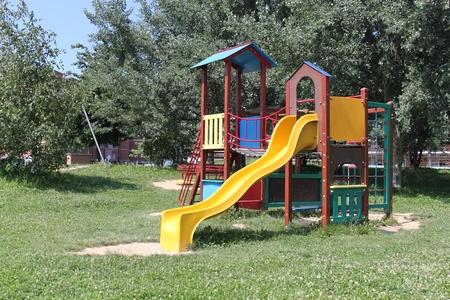 A big colorful children playground equipment.