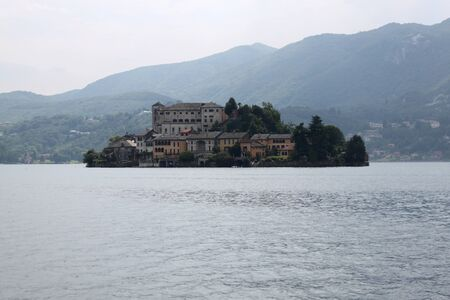 Island Lake Orta, Italy Piedmont photo