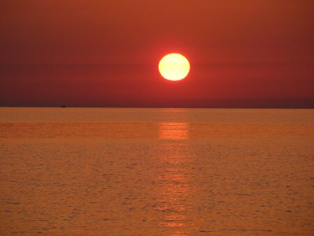 Rendered sea sunset,sicily italy photo