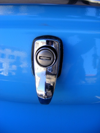 Silver car detail, accessories photo