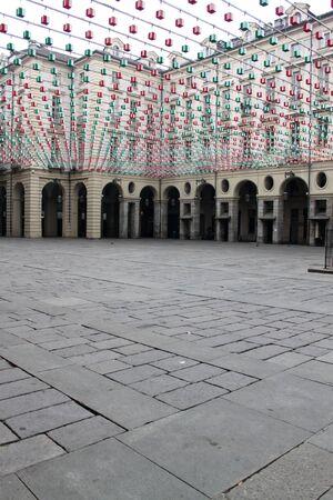 The Piazza Vittorio Emanuele II square in Turin Italy  Stock Photo - 13055620
