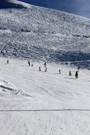 winter skiing holiday at Alps photo