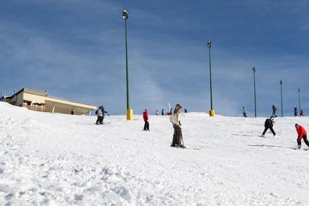winter skiing holiday at Alps photo