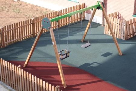 A big colorful children playground equipment   photo