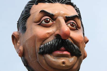 papier mache: Papel mach� figuras de carnaval fiesta popular escultura en Italia Editorial