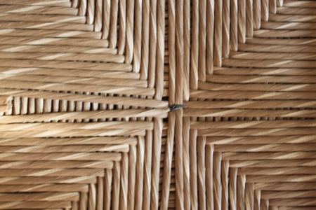 Straw texture from a chair photo
