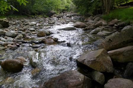 Mountain river with stones Stock Photo - 13910631
