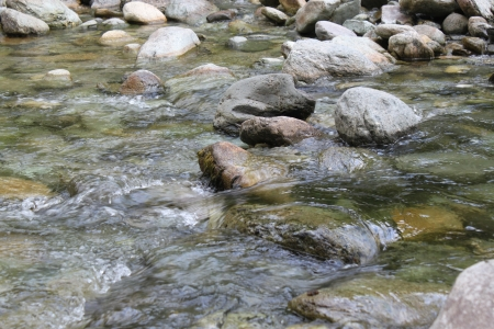 Mountain river with stones  photo