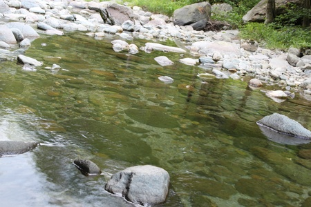 Mountain river with stones Stock Photo - 13910621