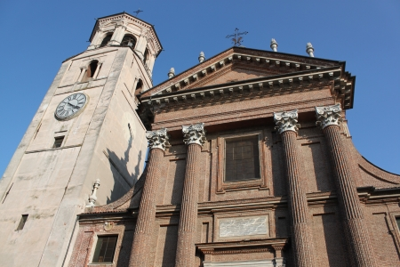 Church tower in Piedmont, italy  photo