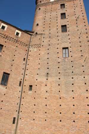 The wall of castell, Fossano ,Cuneo ,Italy