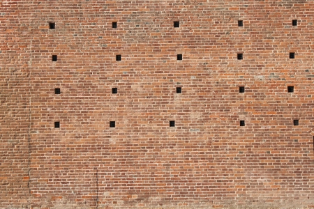 The wall of castell, Fossano ,Cuneo ,Italy  photo
