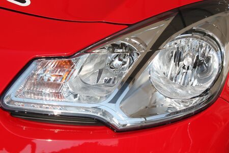 Lights to light gray car for safe driving photo