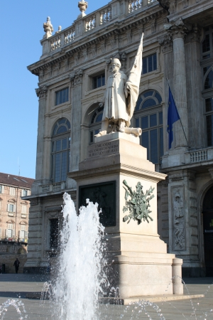 monument, Piazza Castle in Turin - Italy