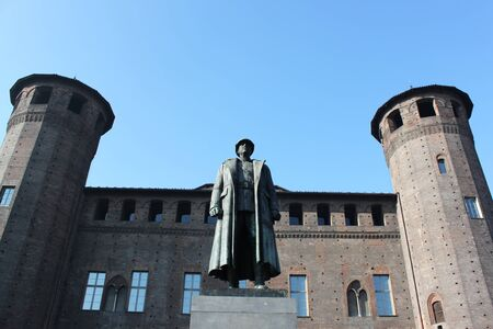 a war historian: monument, Piazza Castle in Turin - Italy
