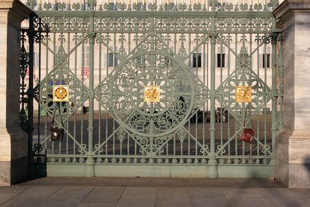 Gates of the Royal Palace in Turin in Italy  photo