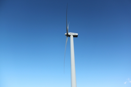 Wind Turbine in Countryside on Spring photo