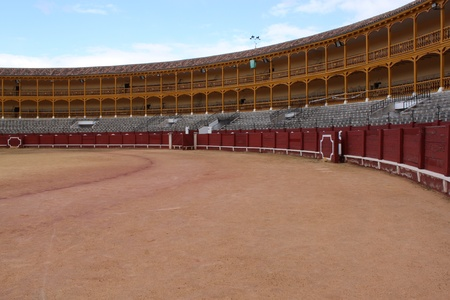Bullfight arena, plaza de toros in Seville, Spain