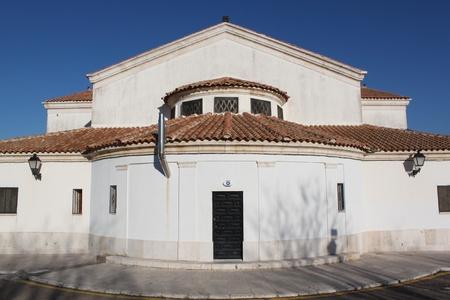 porches: church tower in spain
