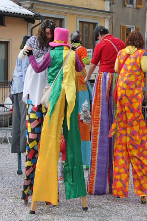 floats: People clothes as Carnival in the city
