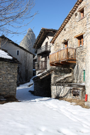 mountain village mountains in Piedmont photo