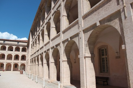 almshouse: The historic hospital Charite in Marseille, France also known as la vieille charite.