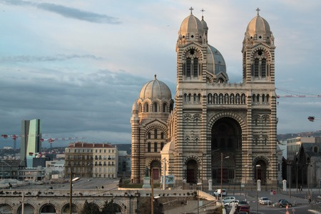 marseille: cathedral catholic church Marseille France Stock Photo