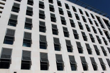 multi storey: facade of modern building in Marseille France