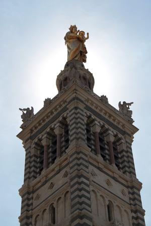 view roof cathedral Notre-Dame de la Garde Marseille