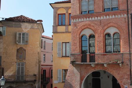 piedmont: historic buildings restored frescoes in piedmont