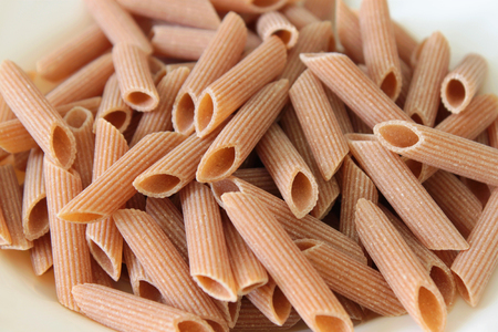 soft sell: Organic pasta dish seasoned with sauces and vegetables