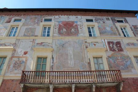 historic buildings: historic buildings restored frescoes in piedmont