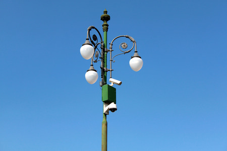 street lamps with tapings speed cameras